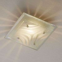 Angular ceiling lamp Wave with decorative glass