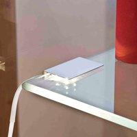 Glass floor light  LED Clip two pcs  Set  warm w