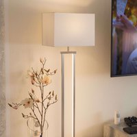 Modern Sydney LED floor lamp with fabric lampshade