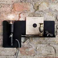Wall light Sunday with shelf  black
