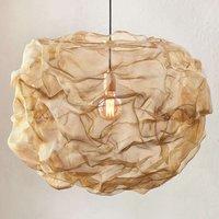 Northern Heat   hanging light made of brass mesh