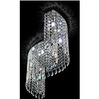 Curved crystal ceiling light Shine