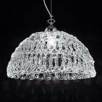 Transparent glass hanging light Cobweb  46 cm