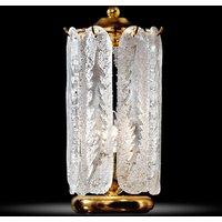 Ravishing table lamp Pini with gold plating