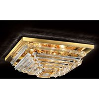 Gold plated crystal ceiling light Losanghe  55 cm
