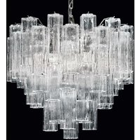 Tronchi hanging light made of clear Murano glass