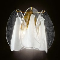 Glass wall light Rondini with 24 carat gold