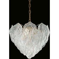 Multi layered glass hanging light Foglie  45 cm