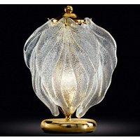 Exclusive glass table lamp Foglie  Murano glass
