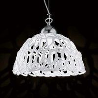 Transparent glass hanging light Cobweb  32 cm