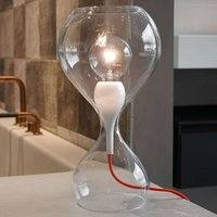 next Blubb   glass table lamp  clear red cable