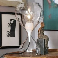 next Blubb   glass table lamp  clear black cable