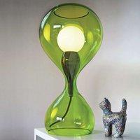 next Blubb   handblown glass table lamp  green