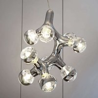 next DNA Quattro   hanging light  nine bulb chrome