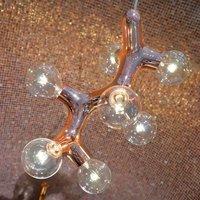 next DNA Quattro   hanging light  nine bulb copper