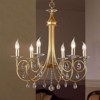 Violetta  Chandelier Six Bulbs Gold