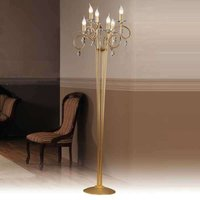 Violetta Floor Lamp Six Bulbs Gold