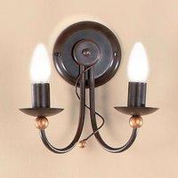 Garda Wall Light Country House Style Two Bulbs