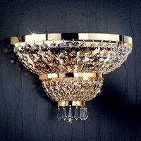 Sheraton Wall Light 24 Ct  Gold Plated Three Bulbs