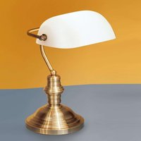 Onella Table Light Banker Style Opal