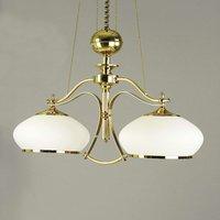 Empira Hanging Light Glittery Gold Two Bulbs