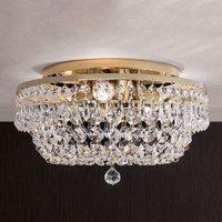Sherata Crystal Ceiling Light Round Gold 35 cm