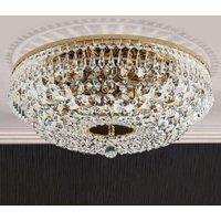 Sherata Ceiling Light Round Gold 45 cm