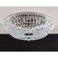 Sherata Ceiling Light Chrome Edged 55 cm