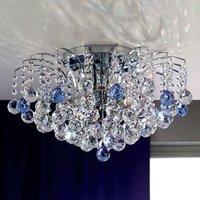 Lennarda Crystal Ceiling Light Blue   Chrome