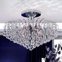 Glittery ceiling light Lennarda  chrome plated