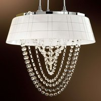 Romia Hanging Light with White Shade
