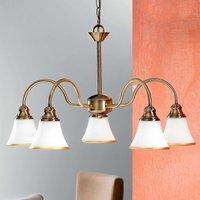 Tilda Hanging Light Five Bulbs Old Brass Look
