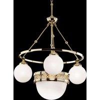 Alt Wien brass hanging light   4 bulb