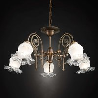 Ringstrasse Chandelier Five Bulbs Old Patina