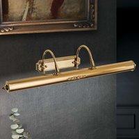 Gold plated Gustav brass picture light  70 cm