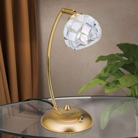 Lead crystal table lamp Maderno  gold