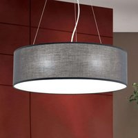 Ufo hanging light with a grey lampshade