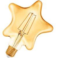 Osram LED bulb E27 4 5 W Vintage Star 2 500 K gold