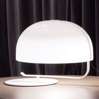 Retro designer table lamp Zanuso in white