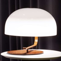 Zanuso   retro designer table lamp with brown base