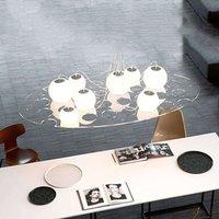 Oval designer hanging light Plateau  length 190 cm
