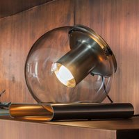 Designer table lamp The Globe made of glass
