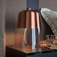 Dimmable designer table lamp Semplice  copper