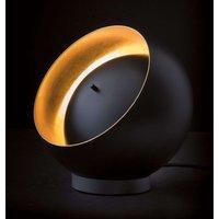 Oluce Eva spherical LED table lamp  black