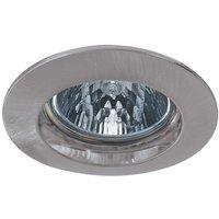Premium Secure HV installed lamp  brushed iron