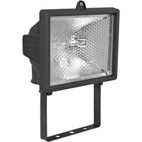 Pivotable 400W outdoor spotlight POWER II  black