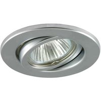 Bright low volt recessed lamp SOKE matt silver