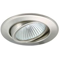 Brushed iron low volt recessed spotlight SVING