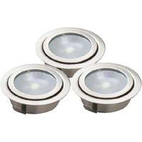 Set of three LED recessed floor lights LUXA