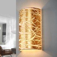 Golden wall light Strapo